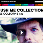 a screen shot of the Space page showing Jez Colborne - it says push me collection.