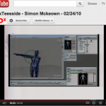 a screen shot of a youtube clip - its from a speech by simon mckeown - the screen shows a digitally animated body, with one arm outstretched.