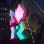the lit up London 2012 logo for the Paralympic Games