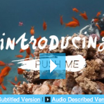 screen grab of the still for the introduction film - underwater scene with orange fish. Text read Introducing Push Me